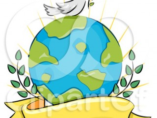 peace-dove-on-earth-with-branches-and-a-banner-kwjv5z-clipart