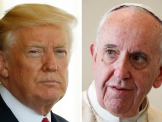 U.S. President Donald Trump and Pope Francis are seen in this composite photo. The two leaders are scheduled to meet at the Vatican May 24. (CNS photos/Reuters and Paul Haring) See POPE-TRUMP-EXPECTATIONS May 24, 2017.