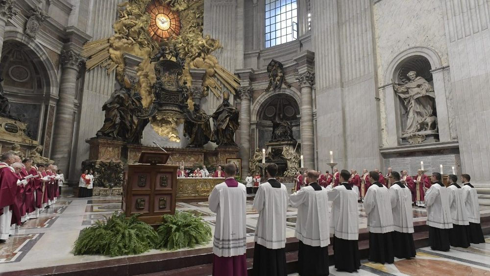 20181103 Pope Francis at a Requiem Mass celebrated in St Peters 0