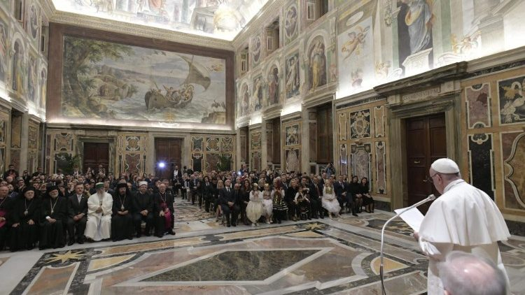 20181120 The Pope welcomed 200 delegates from all Albanians 7