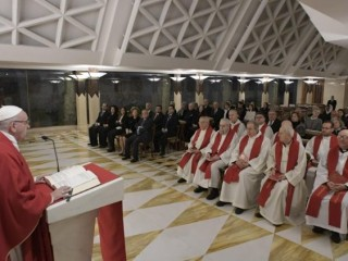 2018.11.30 Messa Santa Marta  (Vatican Media)