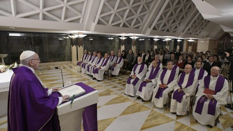 2018/12/11 Messa Santa Marta  (Vatican Media)