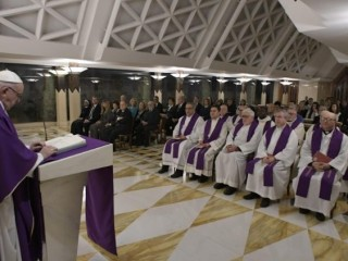 Pope Francis reflects on the readings during the morning Mass at Casa Santa
