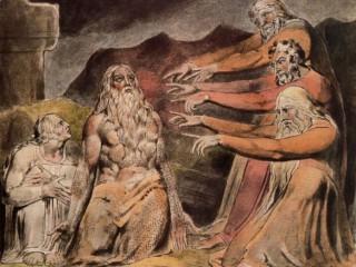 Tranh của William Blake, Job và gia đình của ông được khôi phục lại sự thịnh vượng.