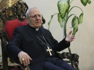 Trong bức ảnh thứ Năm, ngày 5 tháng 12 năm 2019, Đức Hồng Y Louis Raphael Sako, giáo chủ của Nhà thờ Chaldean, phát biểu trong cuộc phỏng vấn với The Associated Press ở Baghdad, Iraq. (Nhà cung cấp hình ảnh: Khalid Mohammed / AP.)