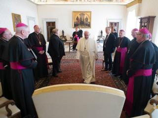 Đức Thánh Cha Phanxicô  gặp gỡ các giám mục Scotland tại Vatican vào ngày 28 tháng 9 năm 2018 (Ảnh: Truyền thông Vatican)