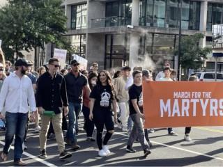 'Cuộc tuần hành vì những người bị bách hại' (March for the Martyrs) thường niên lần thứ II tại Washington, D.C., ngày 25 tháng 9 năm 2021./ Christine Rousselle / CNA)